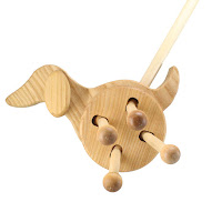 PW10, Push along Dog, Lotes Wooden Toys