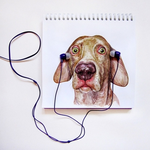 12-I-dont-Like-this-Music-Valerie-Susik-Валерия-Суслопарова-Cats-and-Dogs-Interactive-Animal-Drawings-www-designstack-co