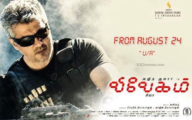 Ajith Vivegam Movie Censored with U/A Certificate