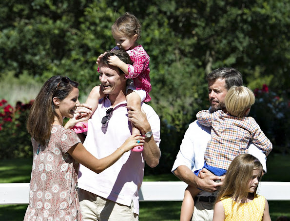 Danish Royal Family  posed for the media at the annual photo session at Grasten Slot.