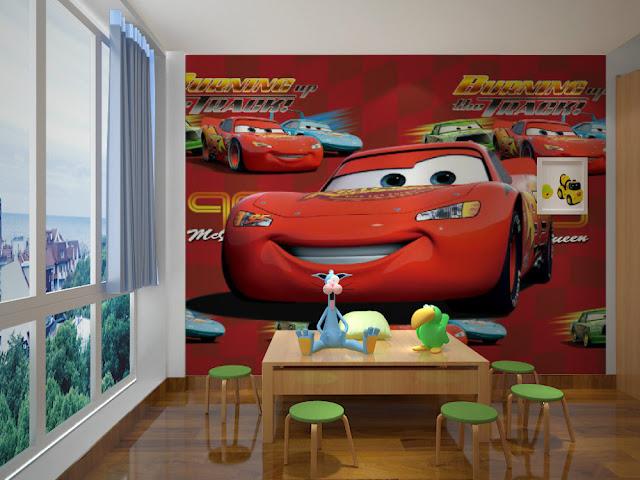 lasten tapetti Disney Cars lastenhuone tapetti valokuvatapetti lapsia
