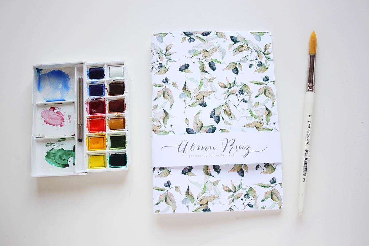 Cuadernos con ilustraciones de Almu Ruiz