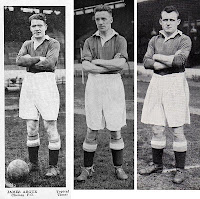 Jimmy Argue, Dick Spence, e Billy Mitchell del Chelsea.