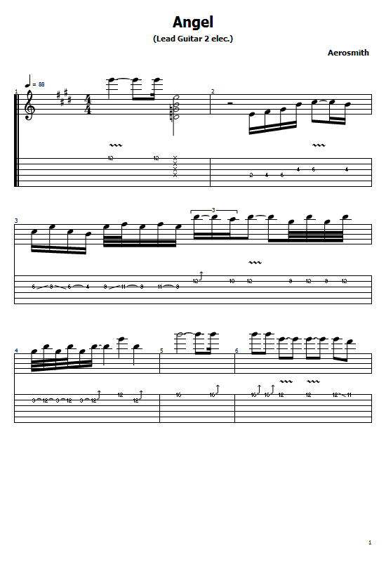 Angel Tabs Aerosmith. How To Play Angel Aerosmith Song On Guitar Tabs & Sheet Online