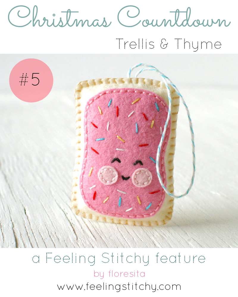 Christmas Countdown 5- Trellis and Thyme Frosted Tart Pattern, featured on Feeling Stitchy by floresita