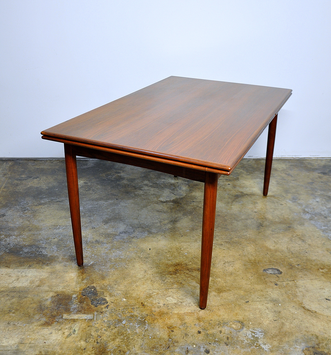 Modern Expandable Dining Table: SELECT MODERN: Danish Modern Teak Expandable Dining Room Table