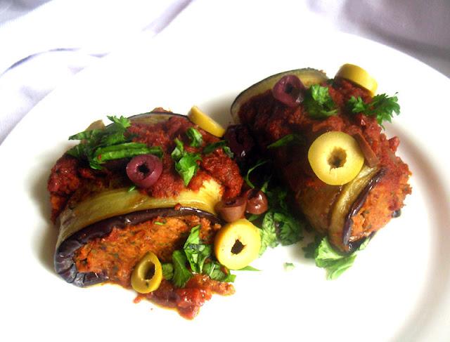 Vegan Grilled Eggplant Involtini