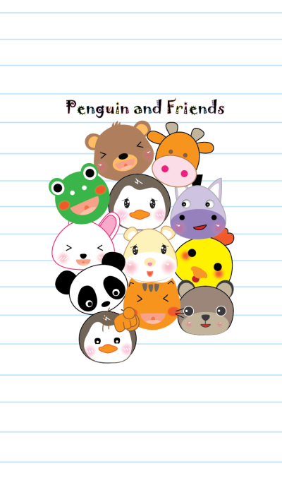 Penguin and friend theme