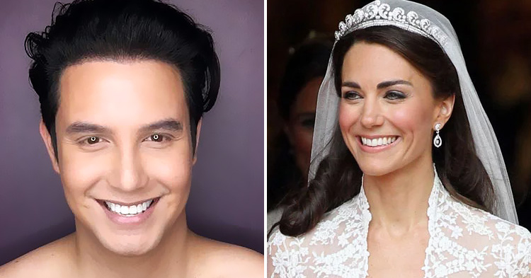 The Philippines' King of Makeup Transformation and the Duchess of Cambridge.