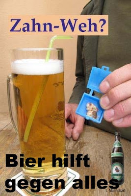 Bier hilft gegen alles Zahnschmerzen lustig