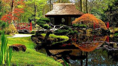 Vườn phong thủy hài hòa thiên nhiên