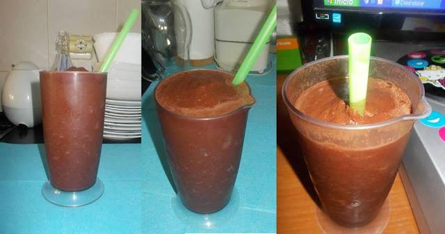 Granizado light de melancia com chocolate