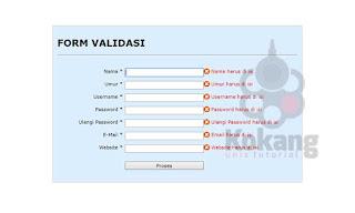 Form Validasi versi 2