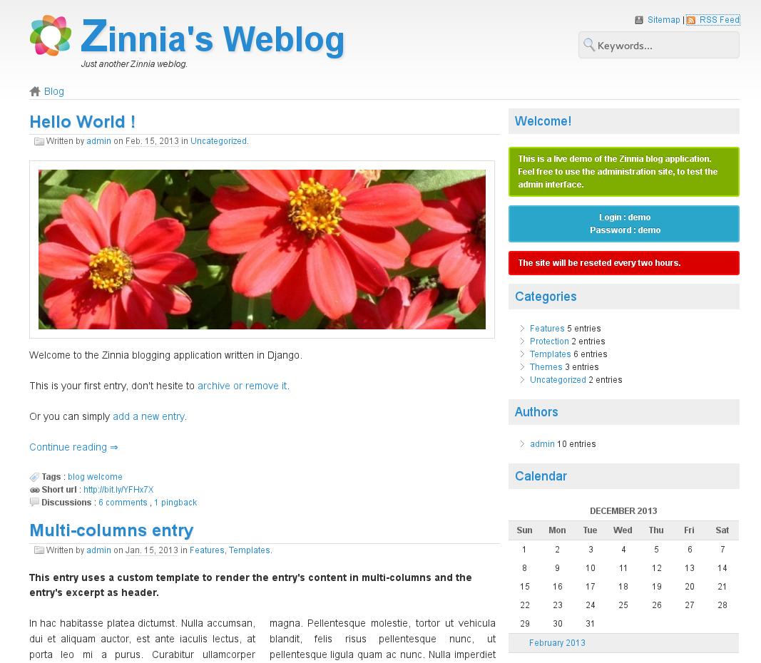 VSnake notes: Django Blog Zinnia