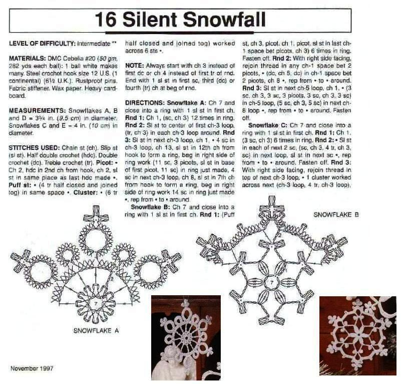 estrelas de crochê para o natal snowflakes