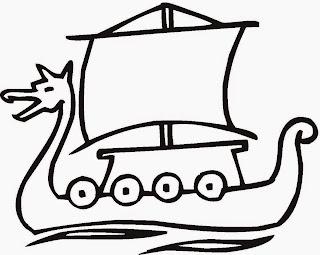 Barco desenhos para colorir bem grandes