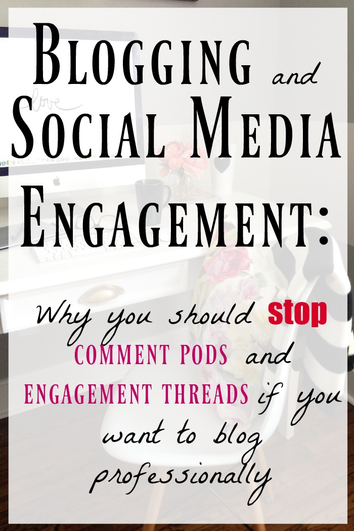 Why using comment pods and engagement threads harm your blog and social media channels if you want to be a paid blogger