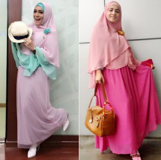 gaya hijab terbaru elegan