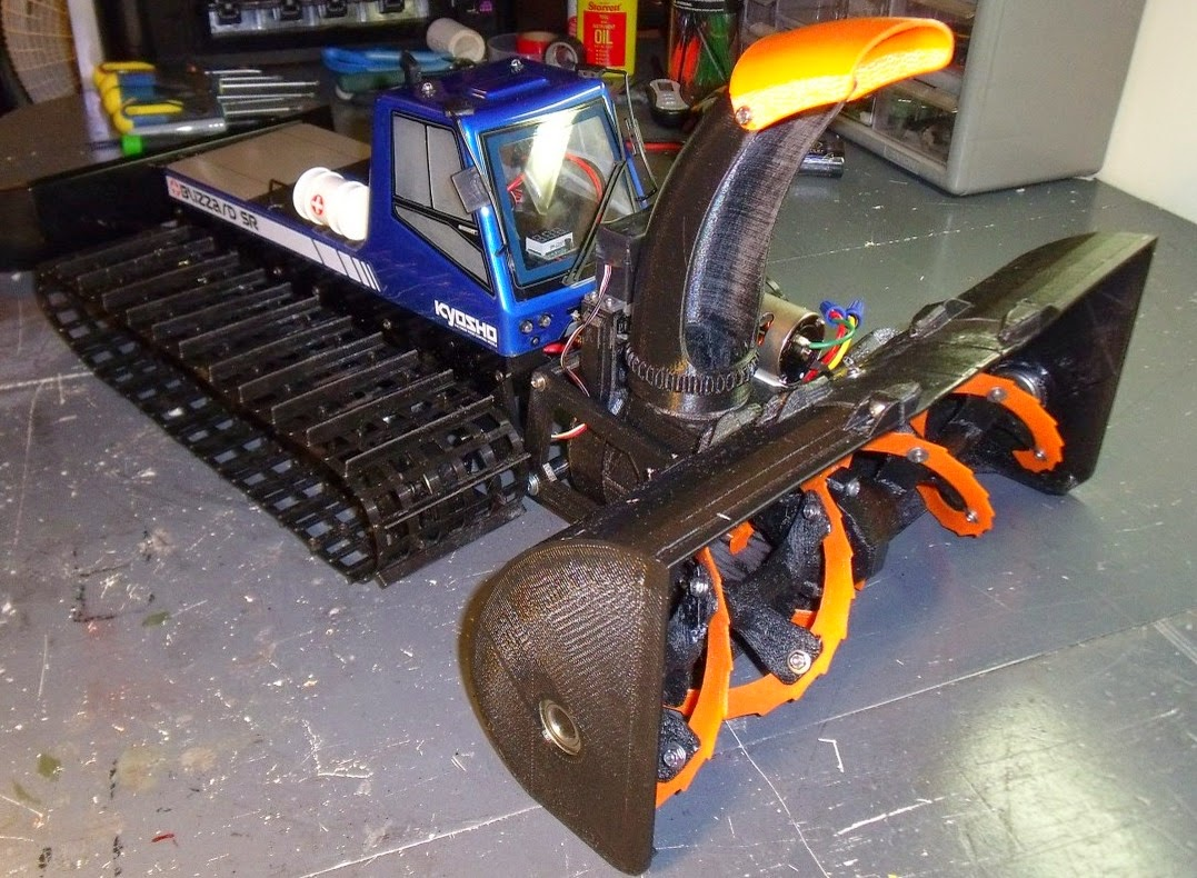 DIY 3D Printing: 3D printable remotely controlled snow ...