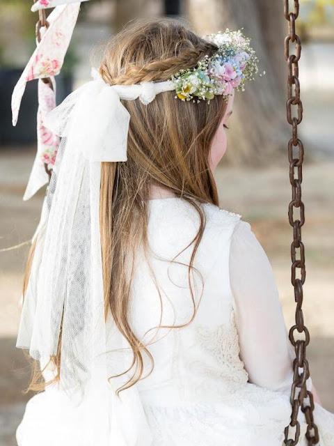 peinado con flores nenas 2017-2018