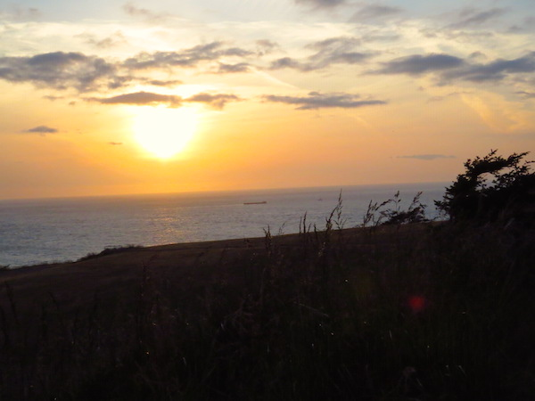 Fort Ebey State Park, sunset over Strait of Juan de Fuca