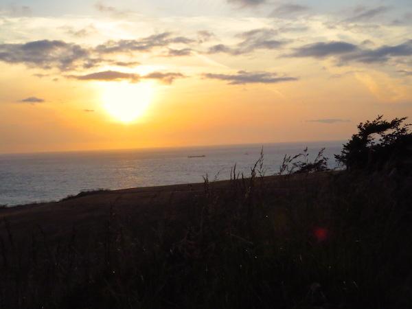 Fort Ebey State Park, sunset over Strait of Juan de Fuca