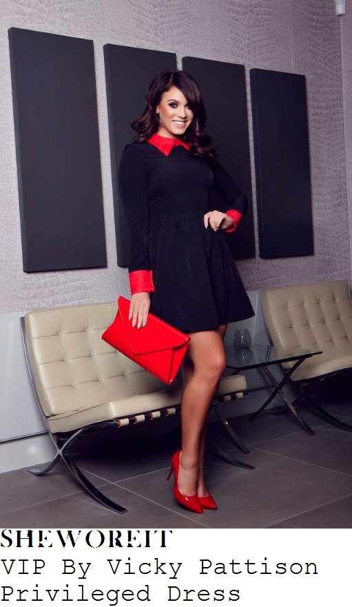 vicky-pattison-vip-by-vicky-pattison-privileged-black-and-red-floral-lace-collar-and-cuff-detail-long-sleeve-high-waisted-a-line-skater-mini-dress