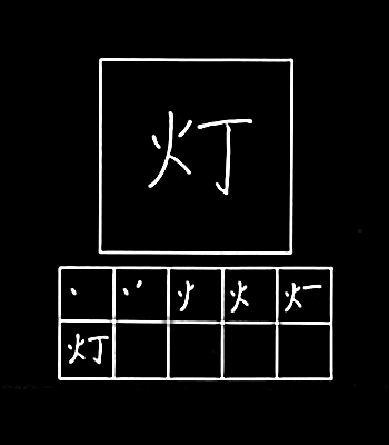 kanji lampu