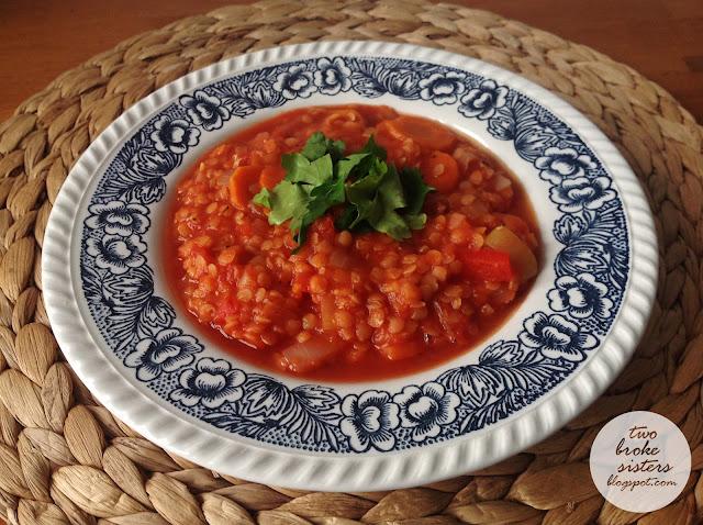 zupa z soczewicy rozgrzewająca pikantna
