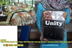 Sprei Unity Jaguar Paw King 180x200xT30 2 Sarung Bantal 2 Sarung Guling Hijau Binatang 3D Dewasa Polyester