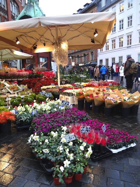 Flower Market stall in copenhagen