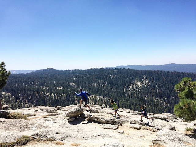 Rock hopping on On top of Sentinel Dome