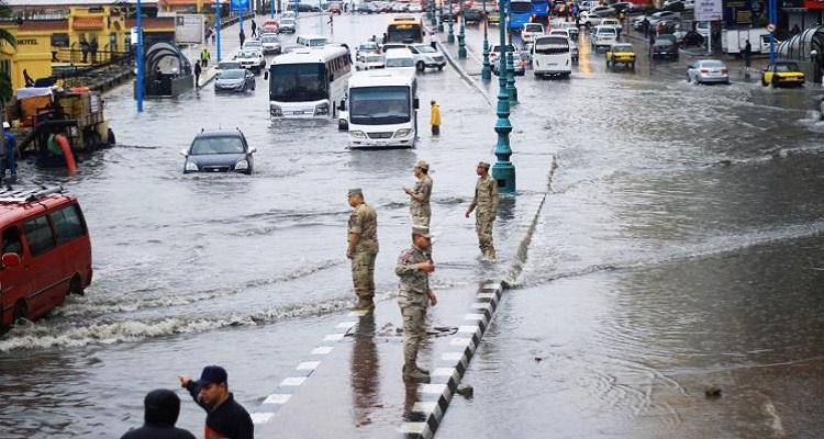 الأرصاد الجوية : أمطار غزيرة وسيول على كافة أنحاء الجمهورية من الثلاثاء القادم