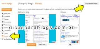 fazer backup do template do blogger