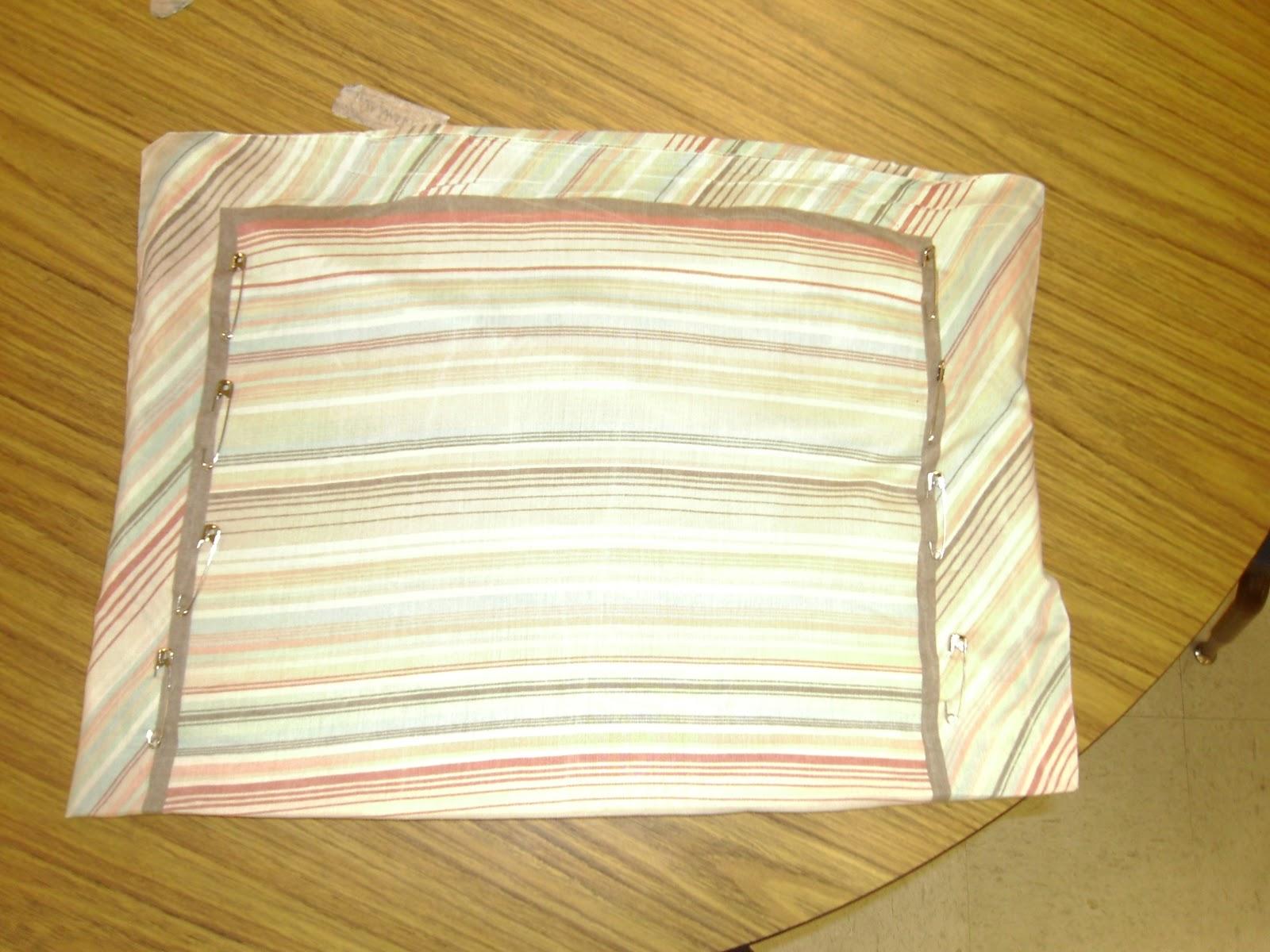 No Sew Chair Pockets Revolving Lahore The Pinterest Diaries Pillowcase