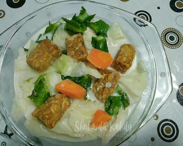 Resepi Sayur Tempe Masak Lemak Putih