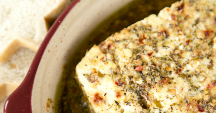 Baked feta plain chicken for Canape bread tubes