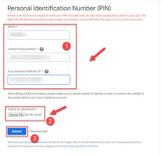 Cara Verifikasi Akun Adsense Tanpa PIN