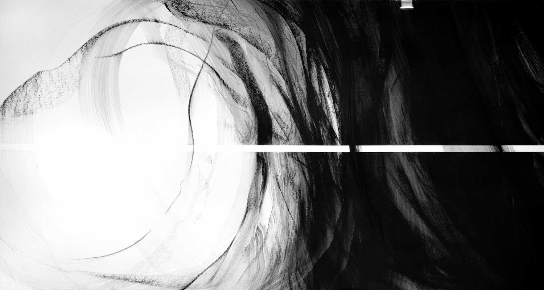 Annik Reymond - fusain 40 cm x 17 mètres, détail 5