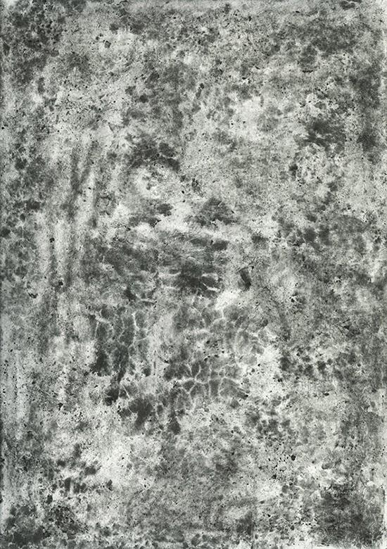 Stephan van den Burg Untitled, 2015 pressed graphite on paper 21 x 29.7 cm