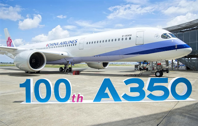 China Airlines Airbus A350-900 The 100th Deliveries