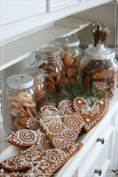 Frosted cookie in jars