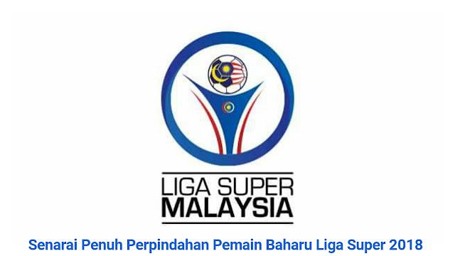 Senarai Penuh Perpindahan Pemain Baharu Liga Super 2019