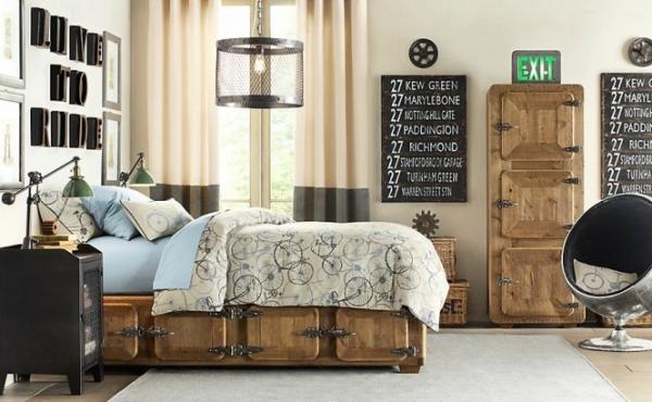 Dormitorios estilo industrial para chicos dormitorios - Dormitorios con estilo ...