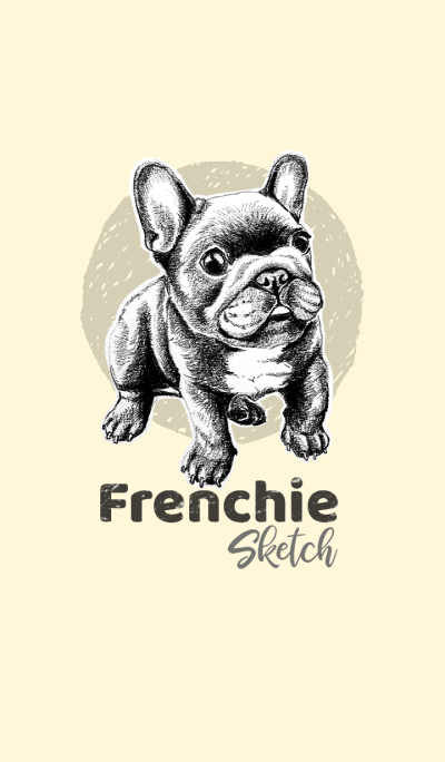 FRENCHIE Sketch (Black)