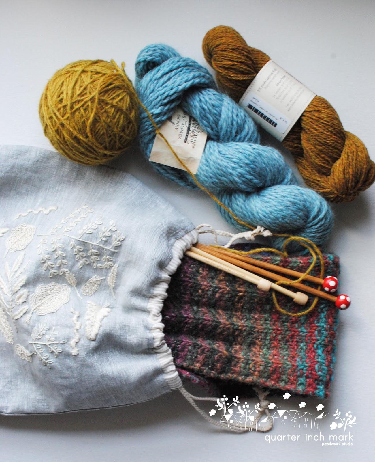 Knitting Tote Bag Sewing Pattern : 1/4
