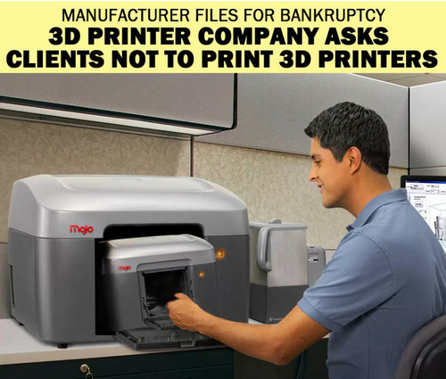 Funny 3D printer company asks clients not to print 3D printers