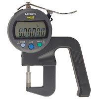 Mitutoyo high accuarcy thickness gage for measuring paper, sheet metal and fine thin samples.