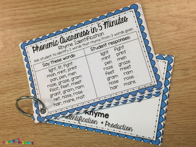 Phonemic Awareness word lists are perfect for teaching phonemic awareness skills - no prep, fully scripted and easy to use anywhere when you have a few minutes.