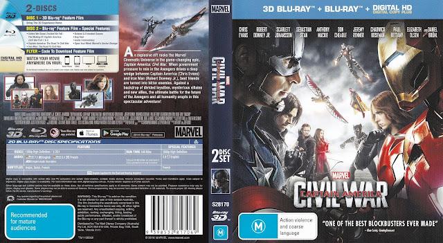 Captain America Civil War Bluray Cover